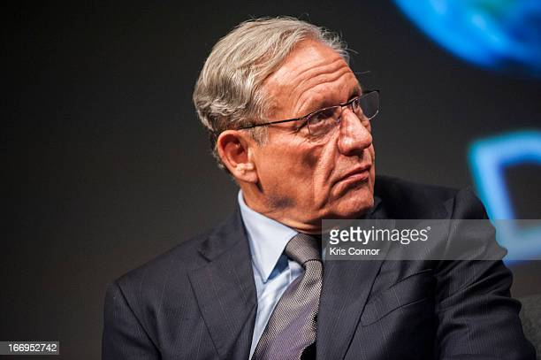 Bob Woodward speaks during the All The Presidents Men Revisited screening at The Newseum on April 18 2013 in Washington DC