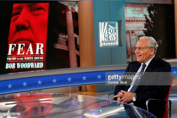 Bob Woodward speaks with Dana Perino at The Daily Briefing at Fox News Channel Studios on September 11 2018 in New York City
