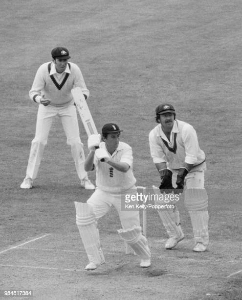 Bob Woolmer batting for England during his innings of 120 runs in the 1st Test match between England and Australia at Lord's Cricket Ground London...