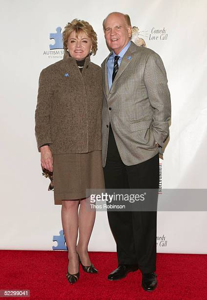 Bob Wright of NBC Universal and his wife Suzanne attend the Comedy Love Call Benefit at The Beacon Theatre on March 7 2005 in New York City