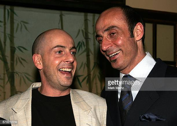 EXCLUSIVE Bob Yari and Actor Shaun Toub arrive at the Yari Film Group Crash Academy Party at the Crustacean Restaurant on March 4 2006 in Beverly...
