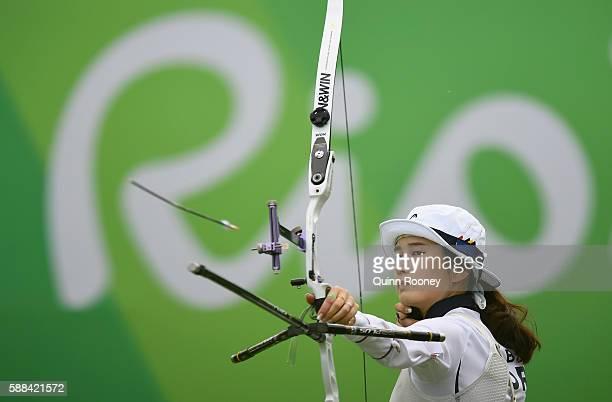 Bobae Ki of Korea competes in the Women's Individual round of 8 Elimination Round on Day 6 of the Rio 2016 Oklympics at Sambodromo on August 11 2016...