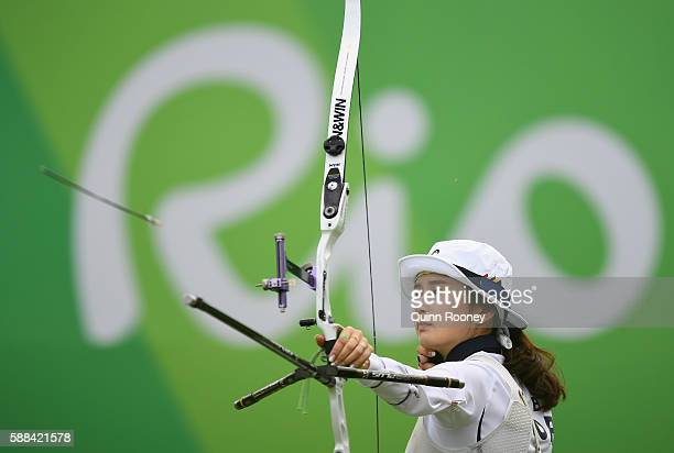 Bobae Ki of Korea competes in the Women's Individual round of 8 Elimination Round on Day 6 of the Rio 2016 Oklympics at Sambodromo on August 11 2016...