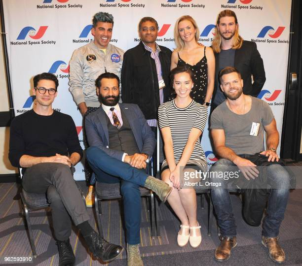 Bobak Ferdowsi Naren Shankar Hallie Lambert Kyle Hill Steven Strait Cas Anvar Cara Gee and Wes Chatham attend the Science Of The Expanse Panel held...