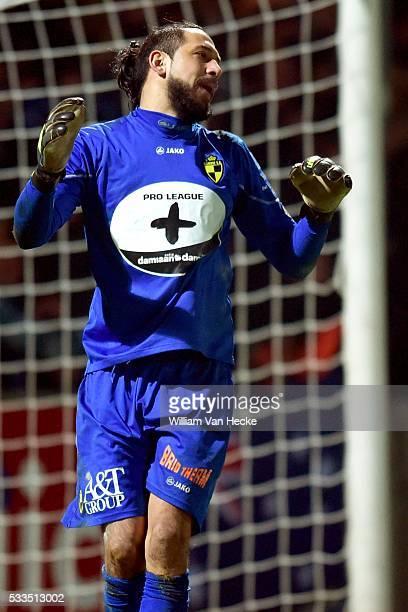 Boban Bajkovic of K Lierse Sk shows dejection during the Jupiler Pro League match between K. Lierse S.K. And Club Brugge KV in Lier, Belgium.