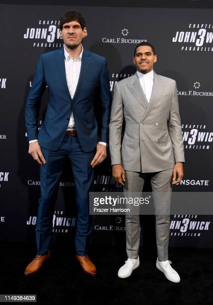 Boban Marjanovic and Tobias Harris attend the special screening of Lionsgate's John Wick Chapter 3 Parabellum at TCL Chinese Theatre on May 15 2019...