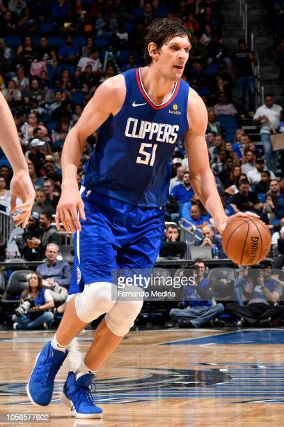 Boban Marjanovic of the LA Clippers handles the ball against the Orlando Magic on November 2 2018 at Amway Center in Orlando Florida NOTE TO USER...