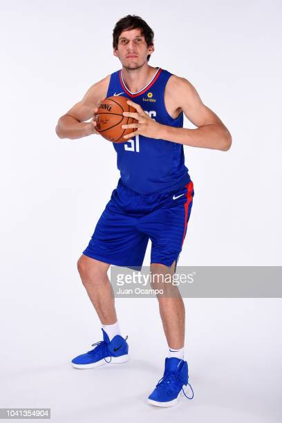 Boban Marjanovic of the LA Clippers poses for a portrait during media day at the LA Clippers Training Center on September 24 2018 in Playa Vista...