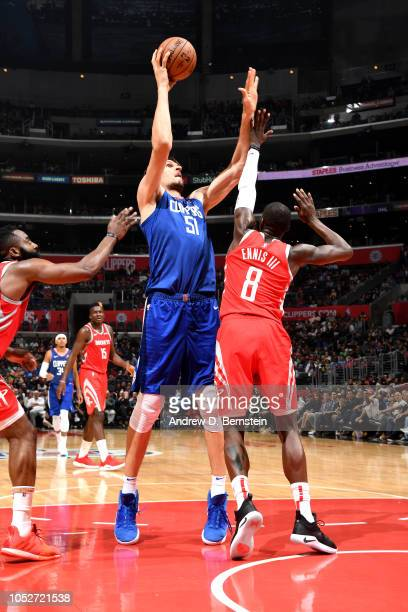 Boban Marjanovic of the LA Clippers shoots the ball against the Houston Rockets on October 21 2018 at Staples Center in Los Angeles California NOTE...
