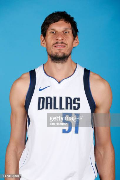 Boban Marjanovic of the Dallas Mavericks poses for a head shot during Media Day on September 30, 2019 at the American Airlines Center in Dallas,...