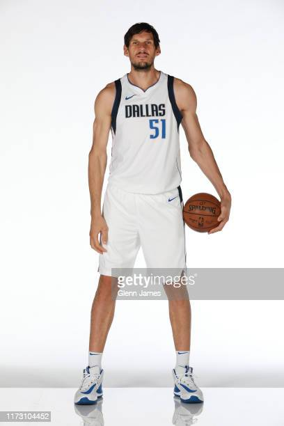 Boban Marjanovic of the Dallas Mavericks poses for a portrait during Media Day on September 30, 2019 at the American Airlines Center in Dallas,...