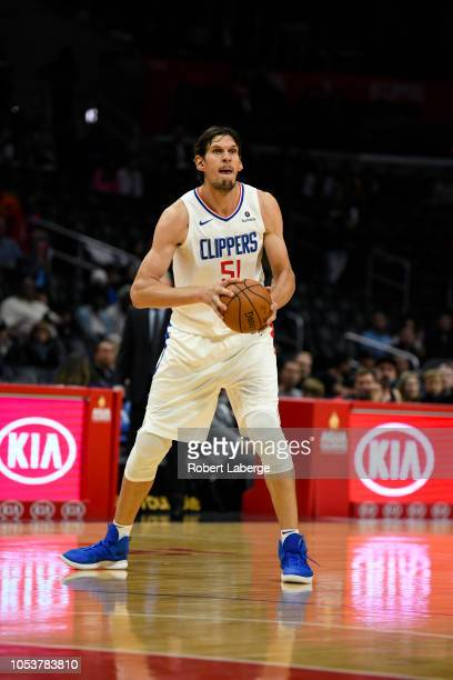 Boban Marjanovic of the Los Angeles Clippers plays against the Denver Nuggets on October 9 2018 at STAPLES Center in Los Angeles California NOTE TO...