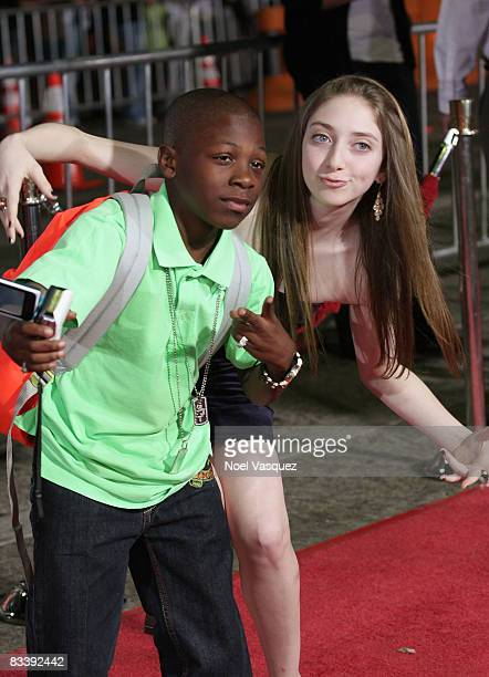 Bobb'e J Thompson and Allie Stamler attend the premiere of Universal's 'Role Models' at Mann's Village Theatre on October 22 2008 in Los Angeles...
