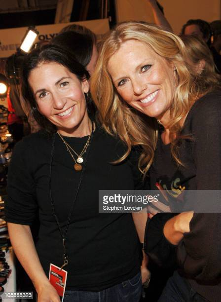 Bobbi Brown and Patti Hansen during Olympus Fashion Week Fall 2006 Bobbi Brown at Heart Truth Red Dress at Bryant Park Tents in New York City New...