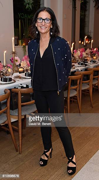 Bobbi Brown attends Bobbi Brown Cosmetics 25th Anniversary dinner at Farmacy on September 28 2016 in London England