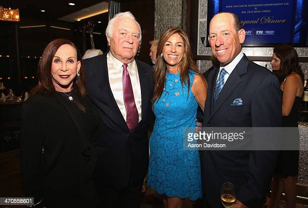 Bobbi Dick Mel Dick Arlene Chaplin and Wayne E Chaplin attend FIU Teaching Restaurant Inaugural Dinner hosted by Mark Militello Norman Van Aken Allen...