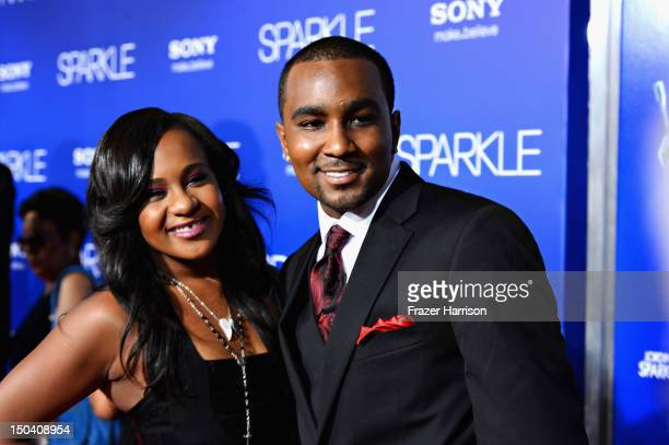 Bobbi Kristina Brown and Nick Gordon arrive at TriStar Pictures' 'Sparkle' premiere at Grauman's Chinese Theatre on August 16 2012 in Hollywood...