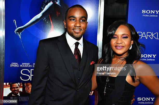 Bobbi Kristina Brown and Nick Gordon arrive at TriStar Pictures' Sparkle premiere at Grauman's Chinese Theatre on August 16 2012 in Hollywood...
