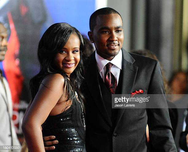 Bobbi Kristina Brown and Nick Gordon attend the premiere of Sparkle at Grauman's Chinese Theatre on August 16 2012 in Hollywood California