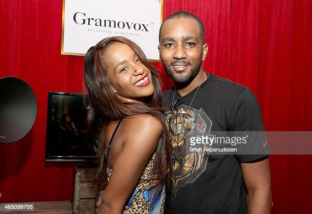 Bobbi Kristina Brown and Nick Gordon attends the GRAMMY Gift Lounge during the 56th Grammy Awards at Staples Center on January 25 2014 in Los Angeles...