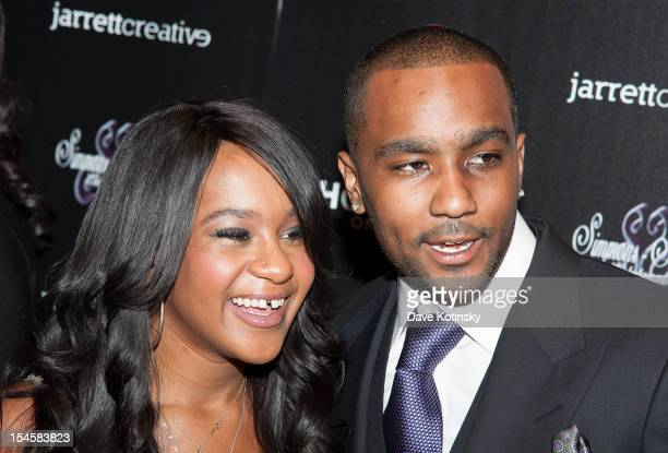 Bobbi Kristina Brown and Nick Gordon attends The Houstons On Our Own Series Premiere Party at Tribeca Grand Hotel on October 22 2012 in New York City