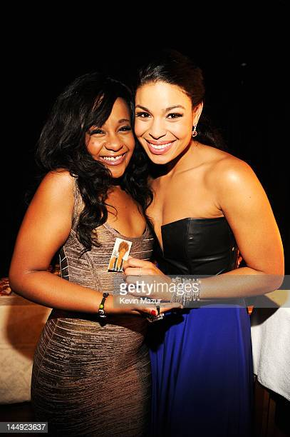 Bobbi Kristina Brown and singer Jordin Sparks pose backstage at the 2012 Billboard Music Awards at the MGM Grand Garden Arena on May 20 2012 in Las...
