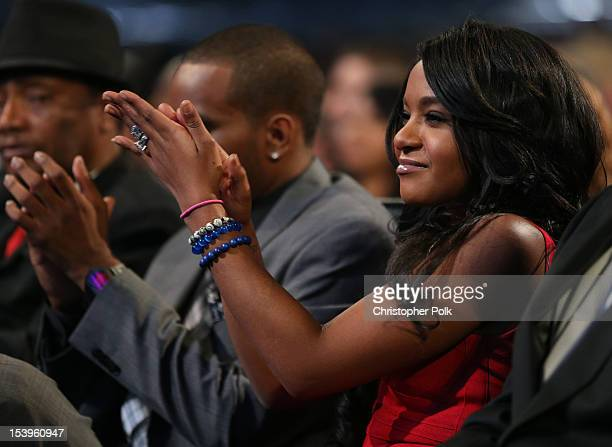 Bobbi Kristina Brown attends 'We Will Always Love You A GRAMMY Salute to Whitney Houston' at Nokia Theatre LA Live on October 11 2012 in Los Angeles...