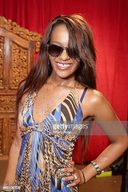 Bobbi Kristina Brown wearing Carrera by Jimmy Choo sunglasses with the Solstice Sunglasses and Safilo USA display at the GRAMMY Gift Lounge during...