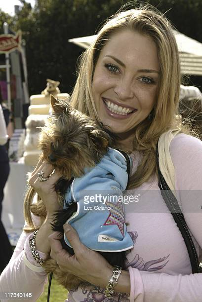 Bobbi Sue Luther and Goblin at Wagdolls during Silver Spoon Hollywood Buffet for Dogs and Babies Day 1 April 22 2005 in Los Angeles California United...