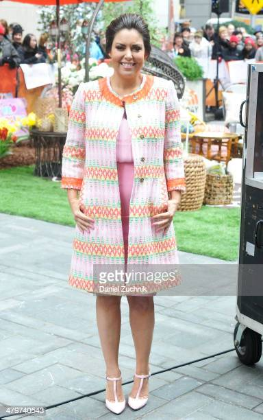 "Bobbi Thomas appears on the set of NBC's ""Today"" at Rockefeller Plaza on March 20, 2014 in New York City."