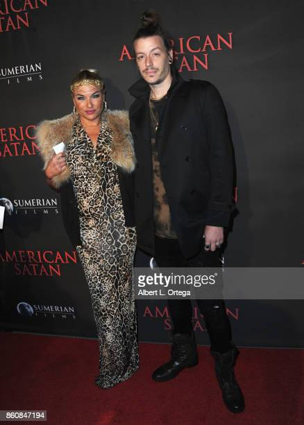 Bobbie Brown and Joshua Bissell arrive for the Premiere Of Miramax's American Satan held at AMC Universal City Walk on October 12 2017 in Universal...