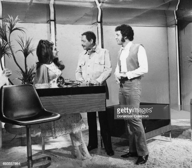 Bobbie Gentry Billy Eckstine and Tom Jones performs on 'This Is Tom Jones' TV show in circa 1970 in Los Angeles California