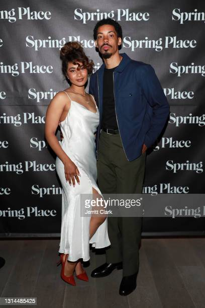 Bobbie Leigh and Melvin Gregg attend Spring Place's Oscars party honoring Andra Day and the cast of The United States vs. Billie Holiday on April 26,...