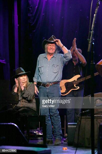 Bobbie Nelson and Billy Joe Shaver perform in concert during the Luck Reunion at Luck Texas on March 16 2017 in Spicewood Texas