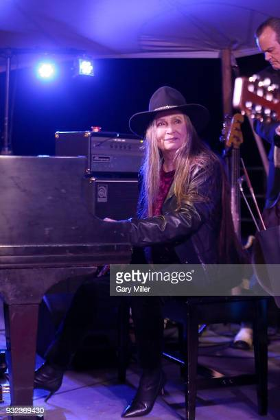 Bobbie Nelson perform in concert with brother Willie Nelson during the Luck Welcome dinner benefitting Farm Aid on March 14 2018 in Spicewood Texas