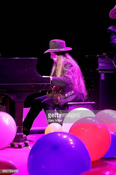 Bobbie Nelson performs in concert with Willie Nelson on her 86th birthday at ACL Live on December 31 2016 in Austin Texas