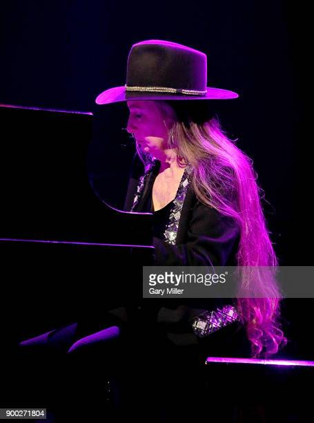 Bobbie Nelson performs with her brother Willie Nelson at ACL Live on December 31 2017 in Austin Texas