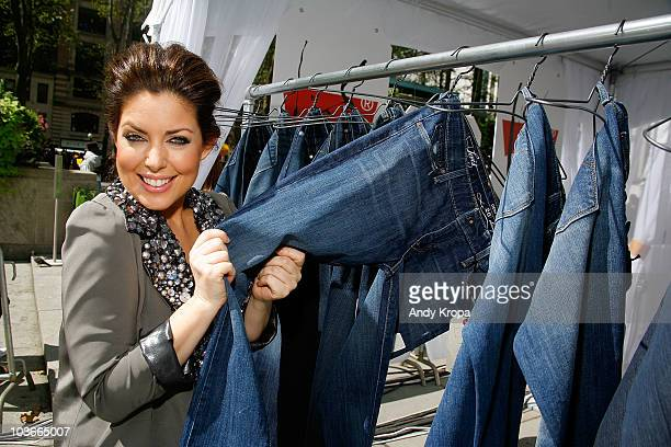 Bobbie Thomas attends the launch of Levi's Curve ID jeans at Bryant Park on August 27, 2010 in New York City.