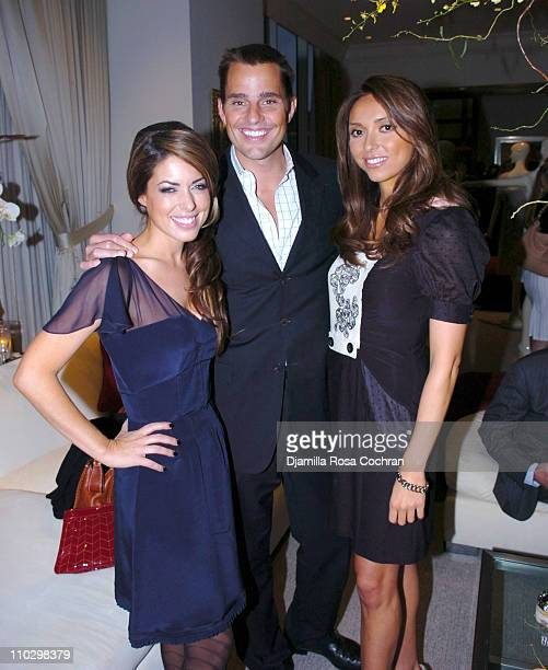 "Bobbie Thomas, Bill Rancic and Giuliana DePandi during W Magazine's ""The New York Affair"" Party at Penthouse Four in New York City, New York, United..."