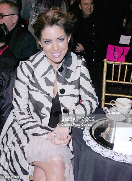 Bobbie Thomas during Mercedes-Benz Fashion Week Fall 2007 - Betsey Johnson - Front Row and Backstage at The Tent, Bryant Park in New York City, New...