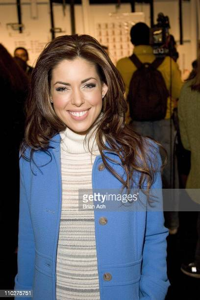 Bobbie Thomas during Olympus Fashion Week Fall 2006 - Max Azria Collection - Front Row and Backstage at Bryant Park in New York City, New York,...