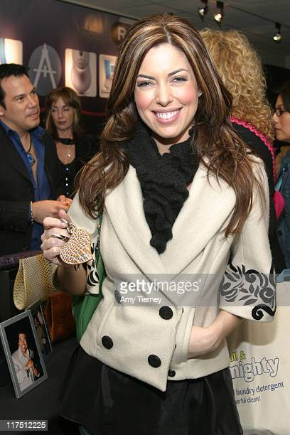 Bobbie Thomas with a Charlie Lapson keychain during Charlie Lapson at the Silver Spoon Hollywood Buffet - Day 2 at Hollywood Museum, Max Factor...