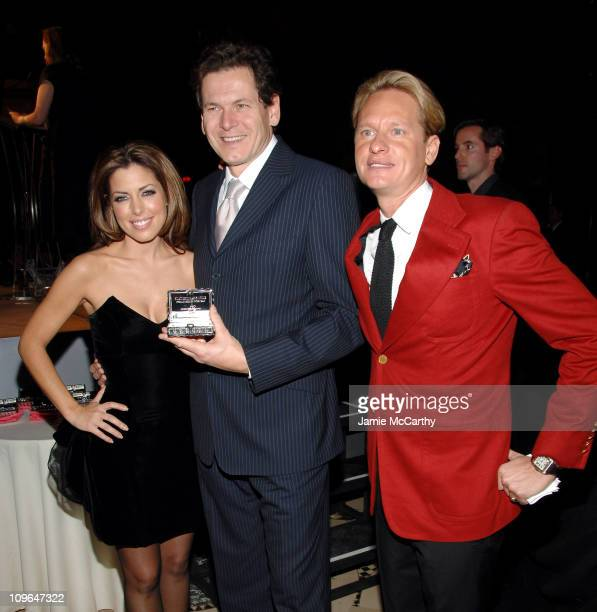 Bobbie Thomas,Claudio Gottardi, president and CEO Safilo USA, and Carson Kressley