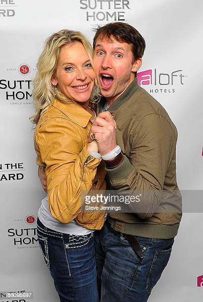 Bobbii Jacobs and James Blunt pose together on Day 2 of 'Live In The Vineyard' on November 2 2013 in Napa California