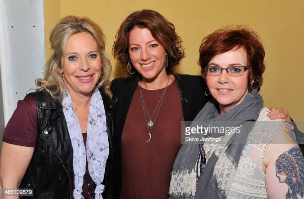 Bobbii Jacobs Sarah McLachlan and Claire Parr attend Day 3 of 'Live In The Vineyard' on April 5 2014 in Napa California