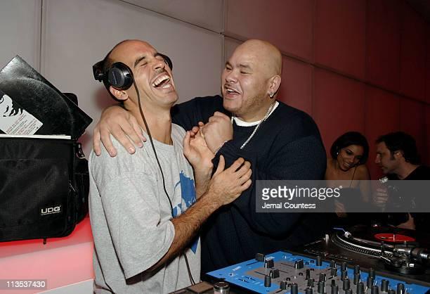 Bobbito and Fat Joe during Emporio Armani and Rosario Dawson Celebrate Voto Latino at Emporio Armani Boutique in New York City, New York, United...
