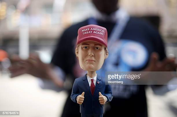 A bobble head in the likeness of Donald Trump presumptive 2016 Republican presidential nominee is displayed ahead of the Republican National...