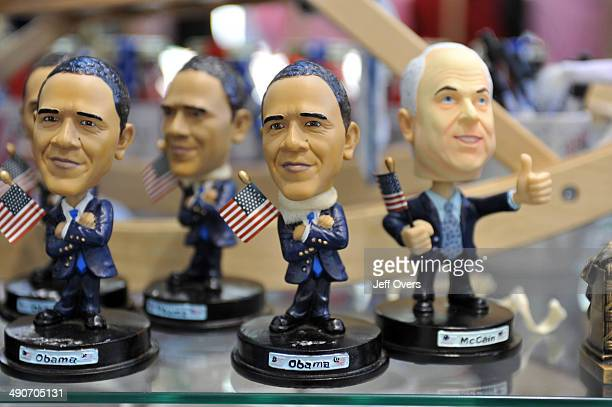 Bobble head toys of the leading figures in the American Presidential Race Barack Obama and Senator John McCain A bobblehead figure also known as a...