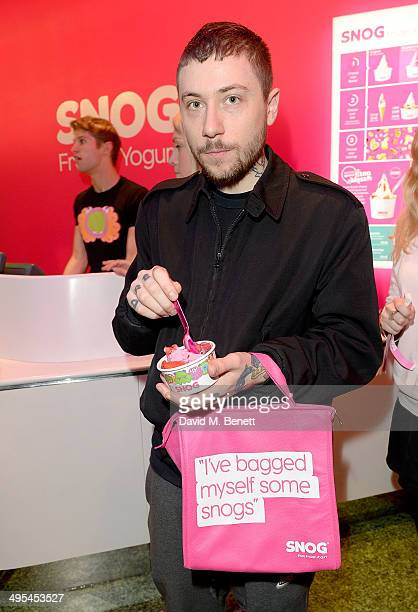 Bobby Abley at the launch of #FirstSNOG a tribute to gay equality charity Stonewall at the SNOG Frozen Yogurt store in Soho on June 3 2014 in London...