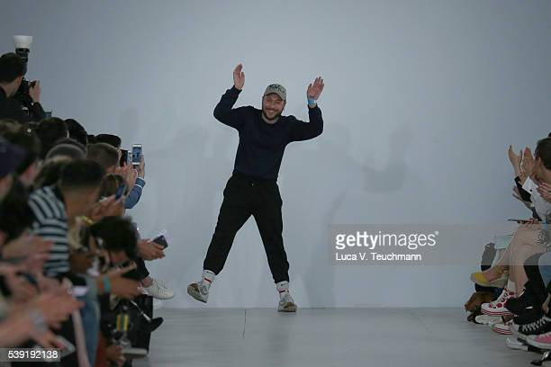 Bobby Abley walks the runway at the his show during The London Collections Men SS17 at BFC Show Space on June 10 2016 in London England